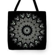 Kaleidoscope Ernst Haeckl Sea Life Series Black And White Set 2  Tote Bag
