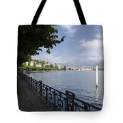 Lake Front With Trees Tote Bag