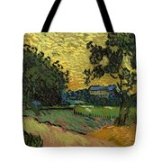 Landscape At Twilight Tote Bag