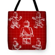 Lego Figure Patent 1979 - Red Tote Bag