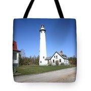 Lighthouse - Presque Isle Michigan Tote Bag