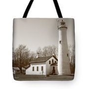 Lighthouse - Sturgeon Point Michigan Tote Bag