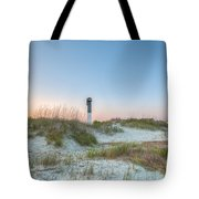 Sullivan's Island Dunes To Lighthouse View Tote Bag