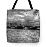 London Thames Bridges Bw Tote Bag