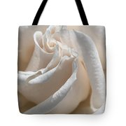 Long-stemmed White Rose Tote Bag