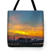 Harbor Lowcountry Sunset Tote Bag