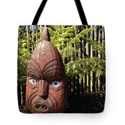 Maori Carving Tote Bag by Les Cunliffe