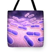 Microscopic View Of Listeria Tote Bag
