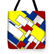 Mondrian Rectangles Tote Bag