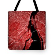 Montreal Street Map - Montreal Canada Road Map Art On Colored Ba Tote Bag