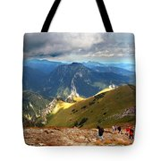 Mountains Stormy Landscape Tote Bag