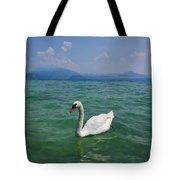 Mute Swan. Sirmione. Lago Di Garda Tote Bag