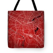 Nuremberg Street Map - Nuremberg Germany Road Map Art On Colored Tote Bag