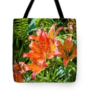 Orange Lilium Tote Bag