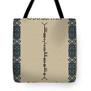 O'sullivan Written In Ogham Tote Bag
