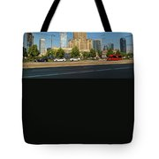 Palace Of Culture And Science In Warsaw Tote Bag