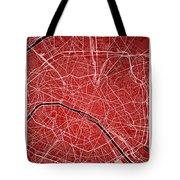 Paris Street Map - Paris France Road Map Art On Colored Backgrou Tote Bag
