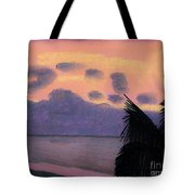 Pastel Palm Tree Sunrise Tote Bag