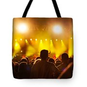 People On Music Concert Tote Bag