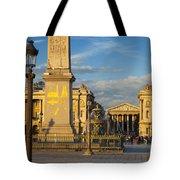 Place De La Concorde Tote Bag
