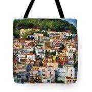 Plomari Town Tote Bag