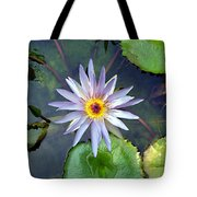 Purple Lotus Tote Bag