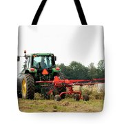 Raking Hay Tote Bag