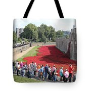 Remembrance Poppies At Tower Of London Tote Bag