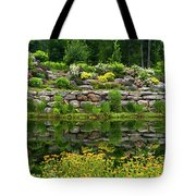 Rocks And Plants In Rock Garden Tote Bag