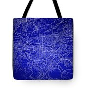 San Jose Street Map - San Jose Costa Rica Road Map Art On Colore Tote Bag
