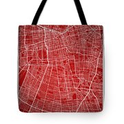 Santiago Street Map - Santiago Chile Road Map Art On Colored Bac Tote Bag