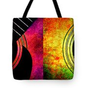 4 Seasons Guitars Panorama Tote Bag by Andee Design