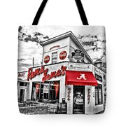 Shadow Of The Stadium - Hdr Selective Color Tote Bag