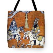 Shahnameh Ferdowsi Rostam And Sohrab Photos Of Persian Antique Rugs Kilims Carpets  Tote Bag