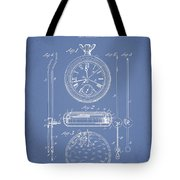 Stopwatch Patent Drawing From 1889 Tote Bag