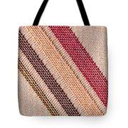 Striped Material Tote Bag