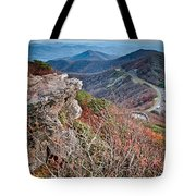 Sunset View Over Blue Ridge Mountains Tote Bag