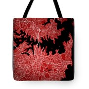 Sydney Street Map - Sydney Australia Road Map Art On Colored Bac Tote Bag
