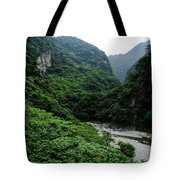 Taiwan Tropical Mountainscape Tote Bag