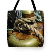 Tall Ship Rigging Vertical Tote Bag