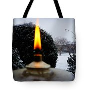 The Candle In The Snow Tote Bag