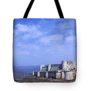 The Crusader Castle Krak Des Chevaliers Syria Tote Bag