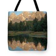 The Grand Tetons Schwabacher Landing Grand Teton National Park Tote Bag