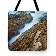 The Jagged Rocks And Cliffs Of Montana De Oro State Park In California Tote Bag