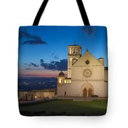 The Papal Basilica Of St. Francis Of Assisi  Tote Bag