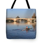 The River Thames At Hampton Court London Tote Bag