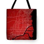 Thunder Bay Street Map - Thunder Bay Canada Road Map Art On Colo Tote Bag