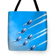 Thunderbirds And Blue Sky  Tote Bag