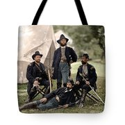 4 Union Officers Of The 4th Pennsylvania Cavalry Tote Bag