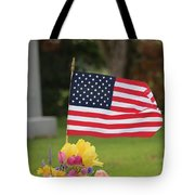 Us Flag On Memorial Day Tote Bag